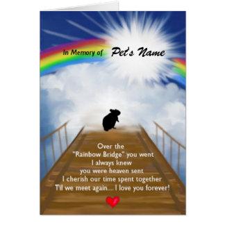 Regenbogen-Brücken-Erinnerungsgedicht für Hamster Karte