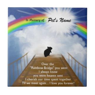 Regenbogen-Brücken-Erinnerungsgedicht für Hamster Kleine Quadratische Fliese