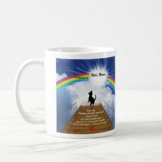 Regenbogen-Brücken-Erinnerungsgedicht für Hunde Kaffeetasse