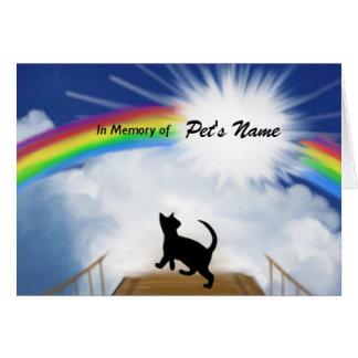 Regenbogen-Brücken-Erinnerungsgedicht für Katzen Grußkarte