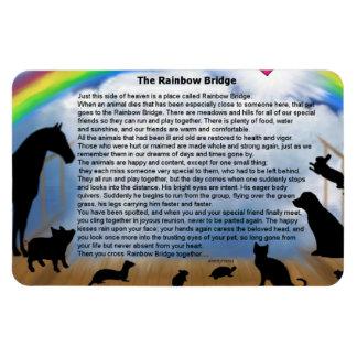 Regenbogen-Brücken-Gedicht Magnet