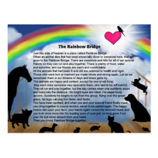 Regenbogen-Brücken-Gedicht Postkarte