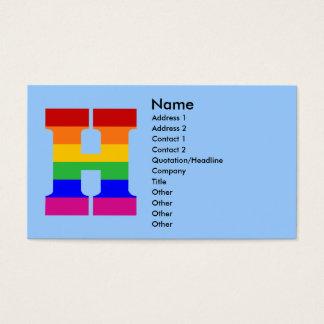 Regenbogen-Buchstabe H Visitenkarte