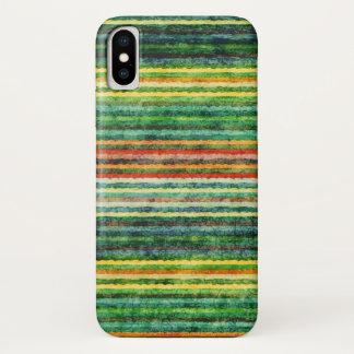 Regenbogen-bunter Streifen-Schmutz iPhone X Hülle