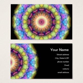 Regenbogen-Buntglas Visitenkarte