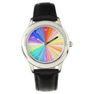 Regenbogen Chakra Schein Armbanduhr