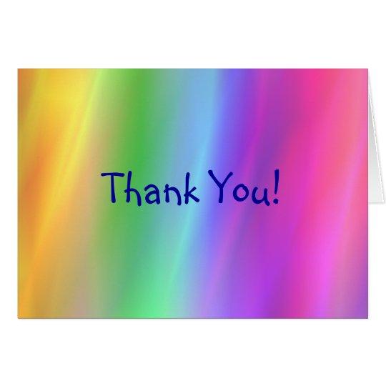 Regenbogen danken Ihnen zu kardieren Karte