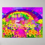 Regenbogen der Blumen Poster