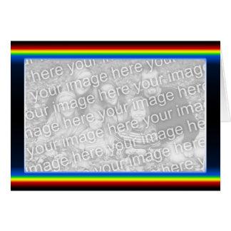 Regenbogen-Drama (breit) (Fotorahmen) Karte