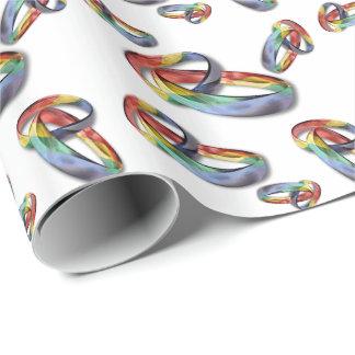 Regenbogen-Eheringe für Heirat-Gleichheit Geschenkpapierrolle