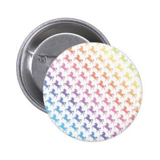 Regenbogen-Einhörner Runder Button 5,1 Cm