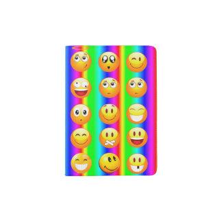 Regenbogen emoji Reisepass-Halterabdeckung Passhülle