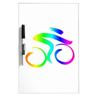 Regenbogen-Fahrrad 2 Trockenlöschtafel