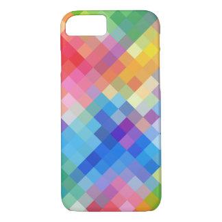 Regenbogen farbiges abstraktes Mosaik quadriert iPhone 8/7 Hülle