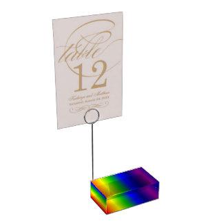 Regenbogen färbt Steigungs-Tabellen-Kartenhalter