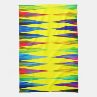 [Regenbogen-Fiesta] heller Harlekin geometrisch Handtuch