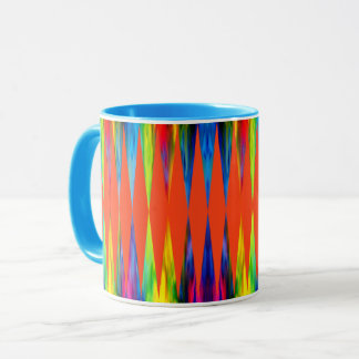 [Regenbogen-Fiesta] heller Harlekin geometrisch Tasse