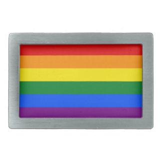 Regenbogen-Flagge Rechteckige Gürtelschnallen