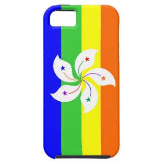 Regenbogen-Flaggenhomosexueller Hongs Kong iPhone 5 Cover