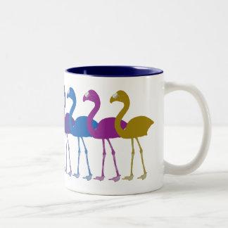 Regenbogen-Flamingo-Retro Vintage Kaffee-Tasse Zweifarbige Tasse