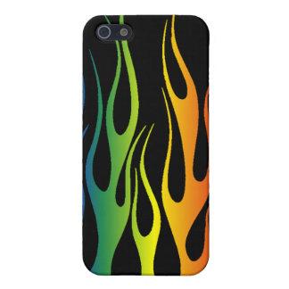 Regenbogen flammt Speck-Kasten iPhone 5 Etuis