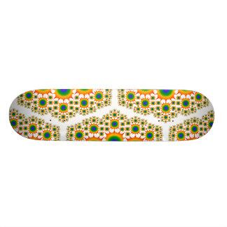 Regenbogen-Fraktal Design: Kundenspezifisches Skat Individuelles Skateboard
