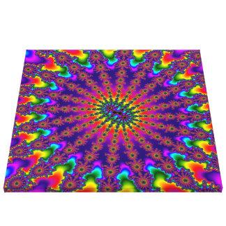Regenbogen-Fraktal-Explosions-Leinwand-Kunst Leinwanddruck