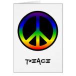 Regenbogen-Friedenskarte Grußkarten