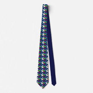 Regenbogen-Friedenstauben-Krawatte Personalisierte Krawatte