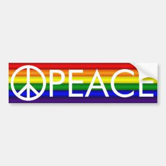 Regenbogen-Friedenszeichen-Autoaufkleber Autoaufkleber