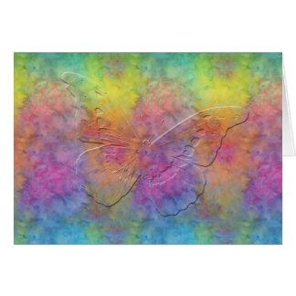 [Regenbogen Frost] Krawatten-Schmetterling [freier Grußkarte