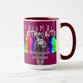 Regenbogen-Galaxie-Enten-Tier-Astronauten Tasse