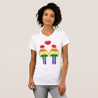 Regenbogen-Gay Pride-T - Shirts für Frauen
