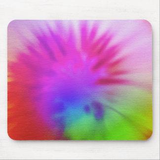 Regenbogen-gefärbte Krawatte Mauspads