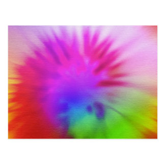 Regenbogen-gefärbte Krawatte Postkarte