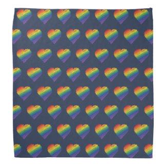 Regenbogen-Gekritzel-Herz Bandana Kopftücher