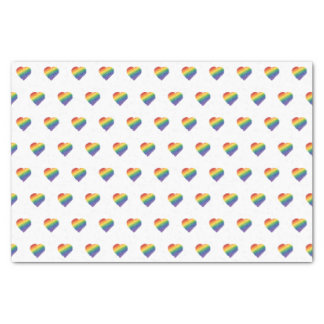 Regenbogen-Gekritzelherz-Seidenpapier Seidenpapier