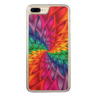 Regenbogen-gewundenes Dornen iPhone 6 Plus Carved iPhone 8 Plus/7 Plus Hülle