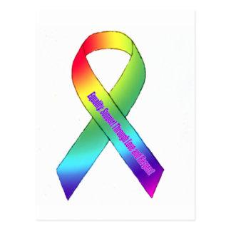 Regenbogen-Gleichheit Postkarte