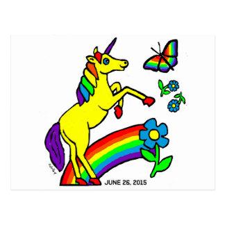Regenbogen-Gleichheits-Einhorn Postkarte