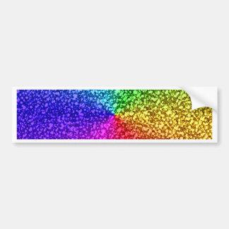 Regenbogen-Glitter-Glitzern Autoaufkleber