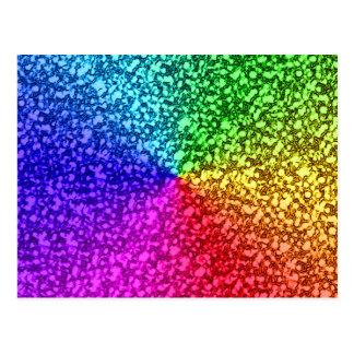 Regenbogen-Glitter-Glitzern Postkarte