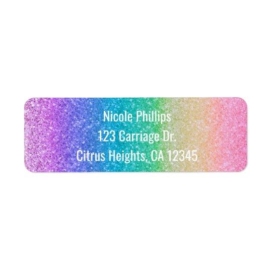 Regenbogen-Glitter-Schein-Zauber-Party Einladung