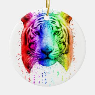 Regenbogen-Graffiti-Farben-Spritzen-sibirischer Keramik Ornament