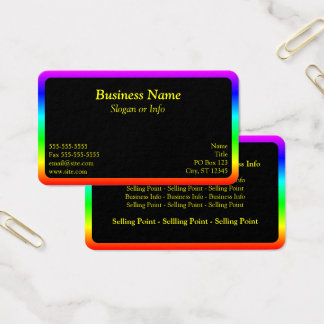 Regenbogen-Grenze Visitenkarte