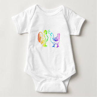 Regenbogen-Hahn #3 Baby Strampler