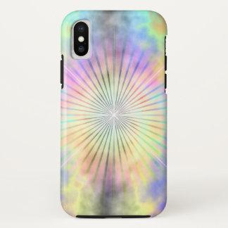 Regenbogen-Halo-Stern-Explosion iPhone X Hülle