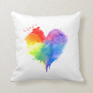 Regenbogen-Herz-Kissen Kissen