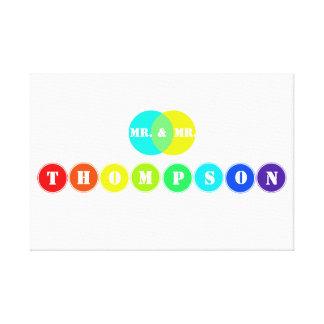 Regenbogen-Hochzeits-Brett für 8 Gespannter Galerie Druck