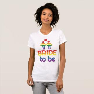 Regenbogen-homosexuelle Heirat-T - Shirts für